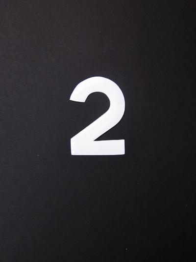 Huisnummersticker klein