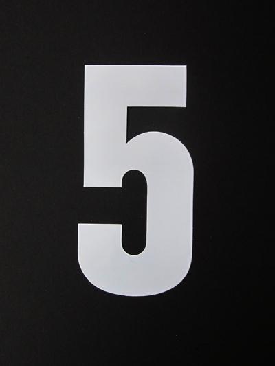 Huisnummersticker groot