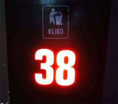 Huisnummersticker reflecterend